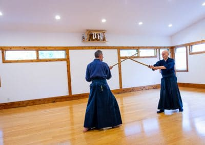 Relnick Sensei teaching at Jodo seminar