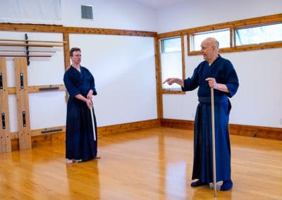 Relnick Sensei teaching at Jo seminar