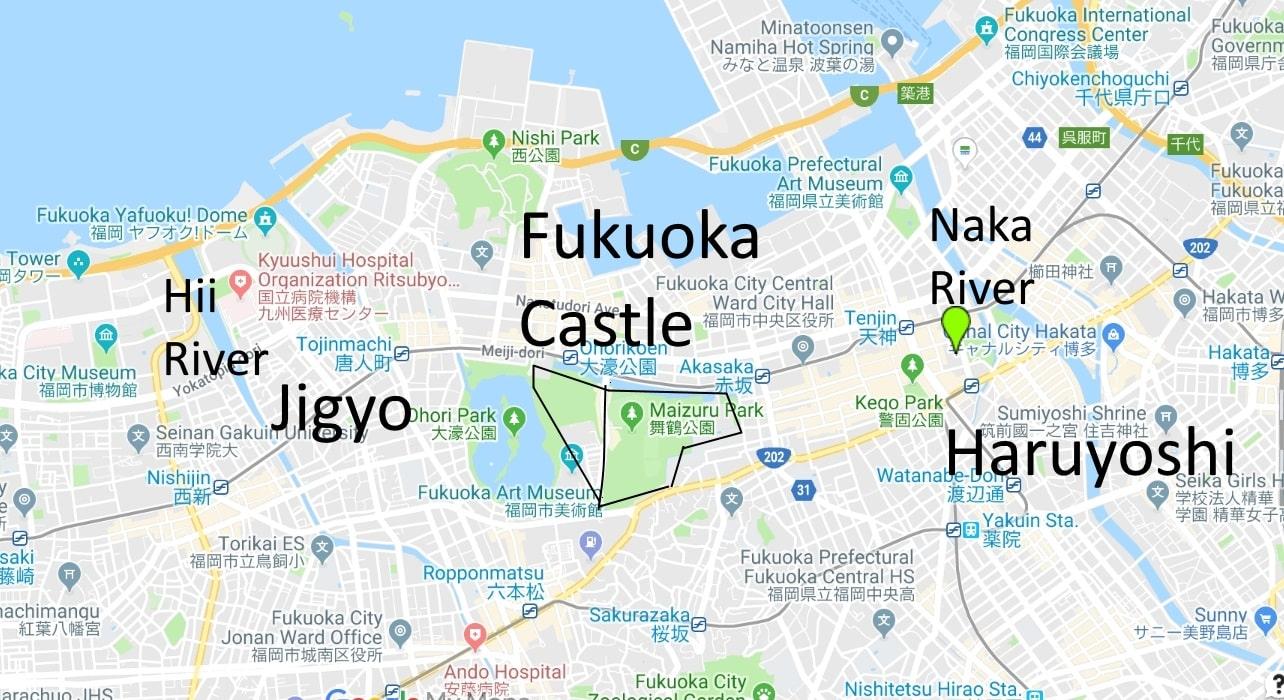 Fukuoka Castle - Jigyo & Haruyoshi areas
